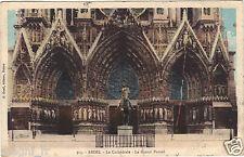 51 - cpa - REIMS - La cathédrale - Le grand portail