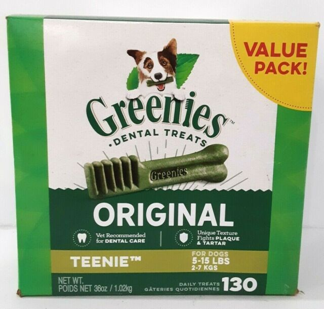 Greenies Original- Teenie Natural Dental Dog Treats (5-15 Lb Dogs)
