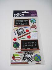 Scrapbooking Crafts Stickers Stickos School Classroom Chalkboards Globes Apples