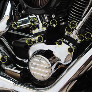 Abdeckkappen Set PVC Weich Zoll Motorschrauben für Harley Davidson Sportster