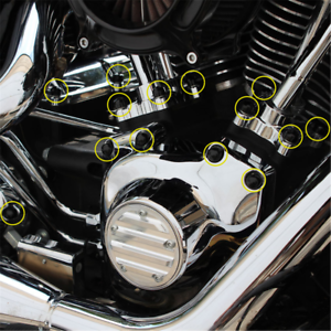 Set tappi copertura PVC morbido pollici viti motore per Harley Davidson Dyna Motorrad-Tuning & -Styling