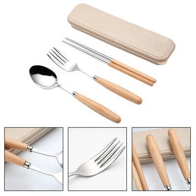 3Pcs Couverts en Plastique Couverts Couverts Voyage baguettes Cuisine Cuillère Fork Set