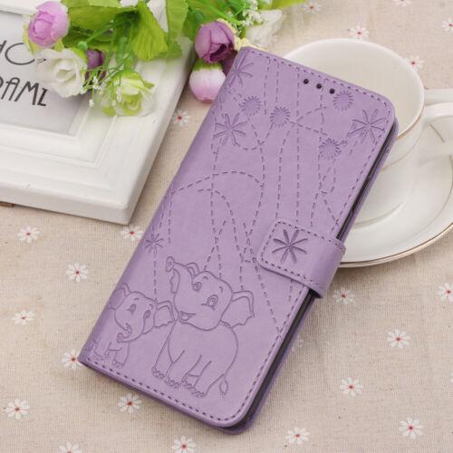 Titular de la tarjeta de Cuero Billetera Abatible Estuche Cubierta Para Samsung S10 iPhone Xs LG Huawei
