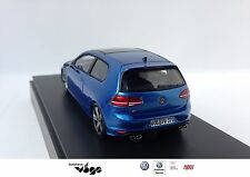 Original VW Golf 7 R Modellauto 1:43, Golf R (A7), Lapiz Blue Metallic