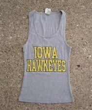 Iowa Hawkeyes Gray Tank Top Shirt ~ Girls Large L ~ Gray Camp David Girl's