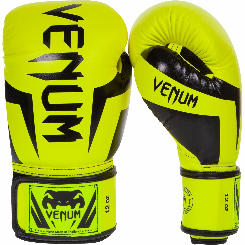 Venum Elite Muay Boxing Gloves Neo Gelb Muay Elite Thai MMA BJJ Muay Thai Mitts 10oz 475abf