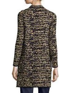 M Missoni Women's Knit Tweed Topper Coat gold 38 (US 2)