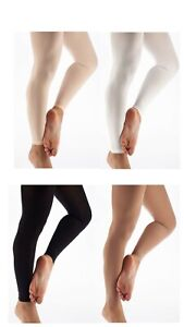 Girls-Ladies-Footless-Tights-Super-Soft-Microfiber-Matte-Opaque-Dance-Tight