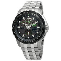 Citizen Promaster Skyhawk A-T Eco-Drive Stainless Steel Men's Aviator Chronograph Watch