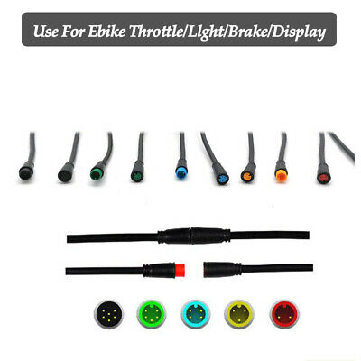 RICETOO Julet 2//3//4//5 Pin Conversion Line Waterproof Extension Cable Wire for Throttle Display Ebrake Light Ebike Parts