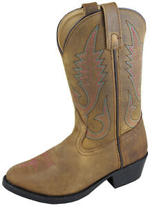 Smoky-Mountain-Youth-Girls-Brown-Distress-Western-Annie-Cowboy-Western-Boot