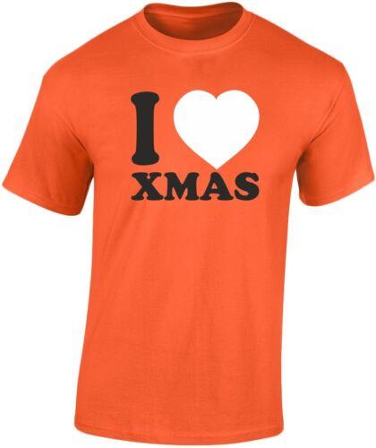 S-3XL I Love Noël Noël T-shirt Homme 10 Couleurs par swagwear