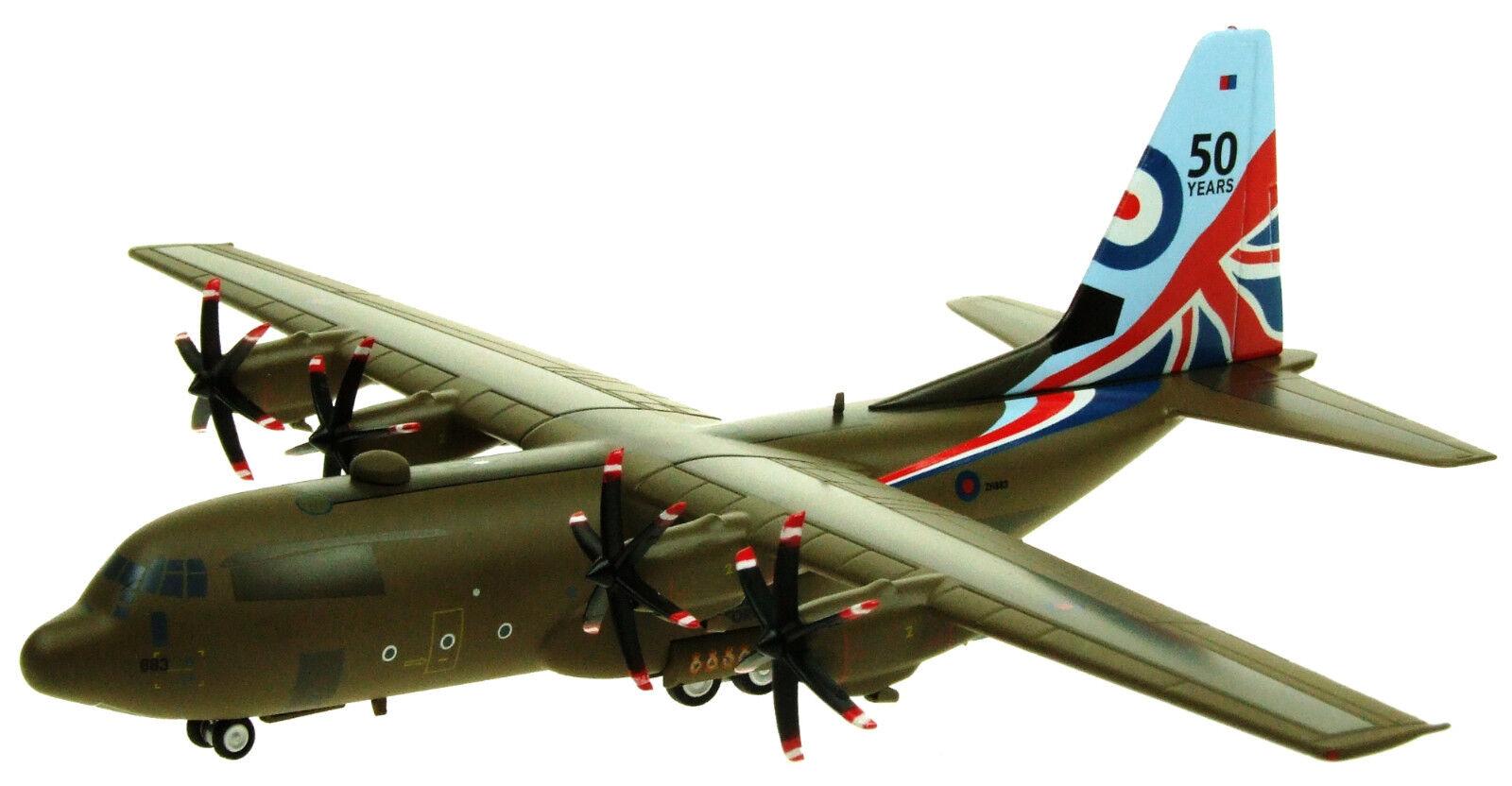 Ifclev 130883 1/200 C-130 Hercules della RAF ZH883 50 anni livrea Ltd Edition con supporto