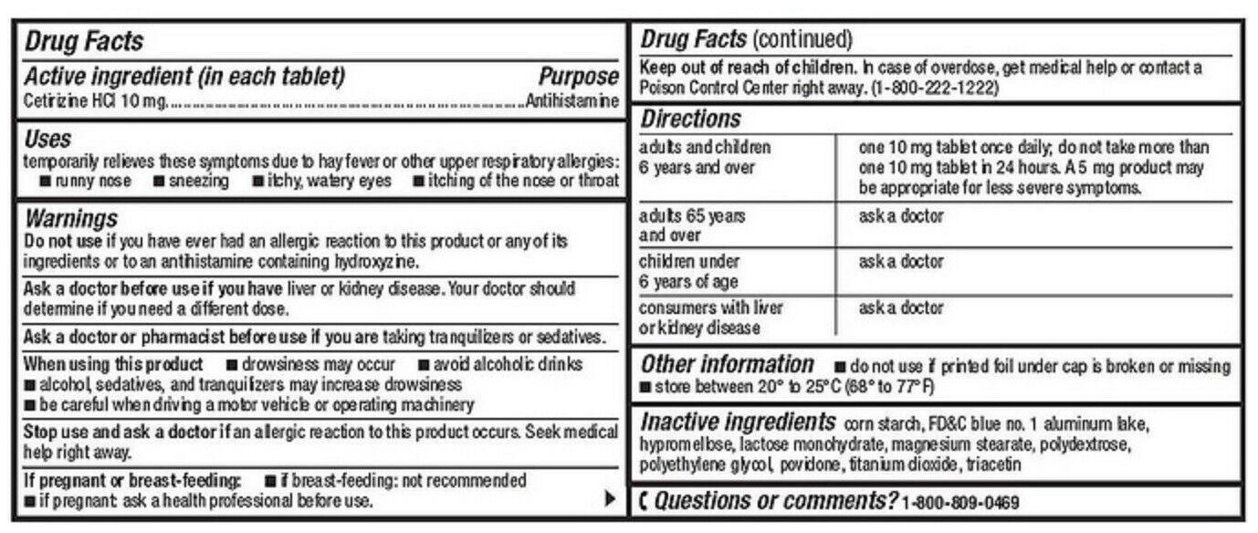 200 Tablets Member's Mark 10mg Cetirizine Hydrochloride Antihistamine