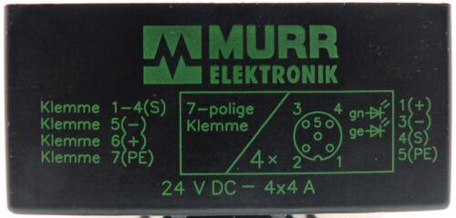MURR ELEKTRONIK 4FACH PASSIV VERTEILER 27770-24V DC 4x4A 31414