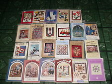 LOT 23 CRAFT PATTERNS SEWING QUILT CHRISTMAS ANIMALS DREAM SPINNERS DOLL FLORAL