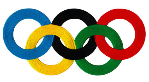 #68 Olympische Ringe Groß Olympia Sport Backpatch Rückenaufnäher 20,2 x 9,5 cm