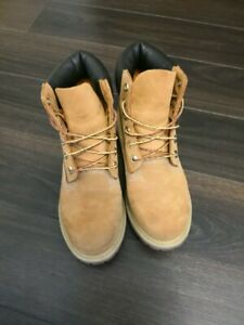 dbcd9648cfc Details about LIKE NEW TIMBERLAND BOOTS 6 INCH COLOR WHEAT WOMEN