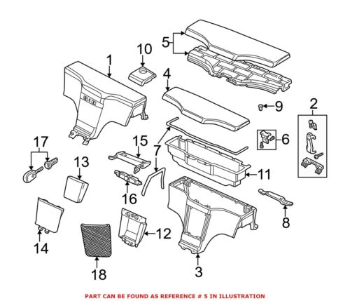 For BMW Genuine Console Lid Rear 51168407985