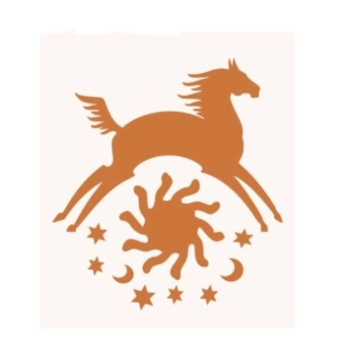 Stencil Aztec Horse Southwestern Sun Moon Stars Celestial Western Crafts Large