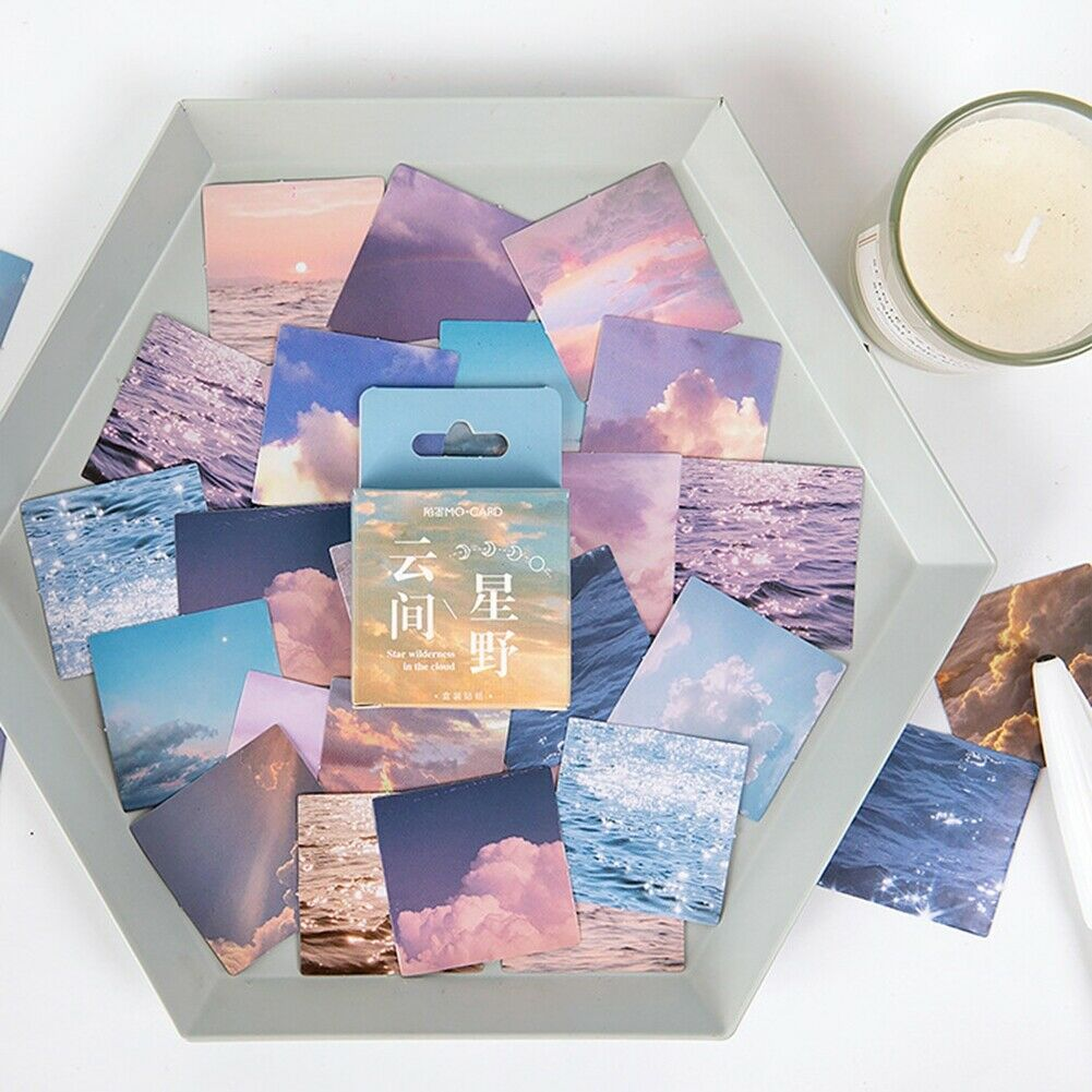 46Pcs Washi Paper Sticker Cute Decorative Scrapbooking Diary DIY Stickers Craft
