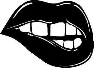 Biting-Lips-vinyl-sticker-decal-Rocky-Horor-sensual-girl-woman-sexy
