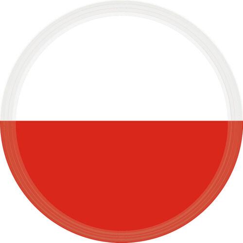 3 D 5 cm Fan Sticker Polen für Auto Caravan Bike Helm Handy Laptop
