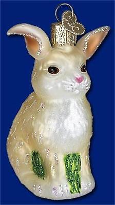 WALTER RABBIT BUNNY OLD WORLD CHRISTMAS GLASS ANIMAL HARE NATURE ORNAMENT 12250