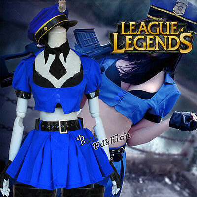 LOL Kate Cosplay Kostüm Kleid Dress Polizistin Spiel Anime Einheitsgrösse Girls