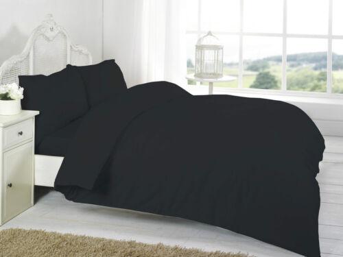 T200 Plain Dyed 100/% Egyptian Cotton Duvet Bedding Set Single//Double//King//S.King