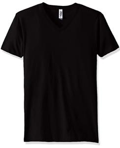 Marky-G-Apparel-Men-039-s-Cotton-V-neck-T-Shirt-Black-Size-Large-NWT