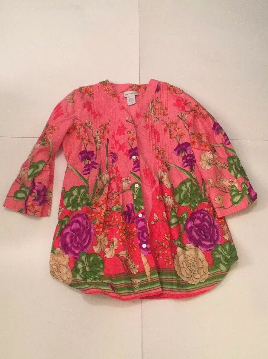 Soft Surroundings Floral Button Down Tunic