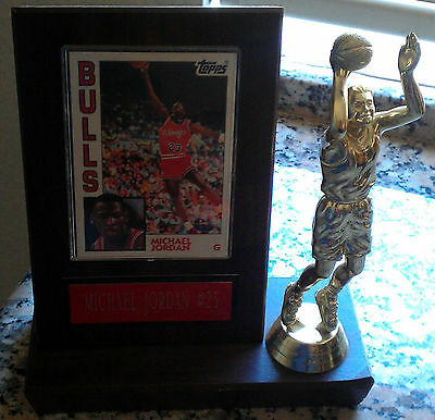 MICHAEL JORDAN 1984 Topps Rookie Card RC #23 with TROPHY Chicago Bulls HOT