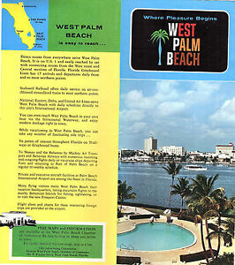 Map Of West Palm Beach Florida.West Palm Beach Florida Vintage Travel Brochure Color Photos Small