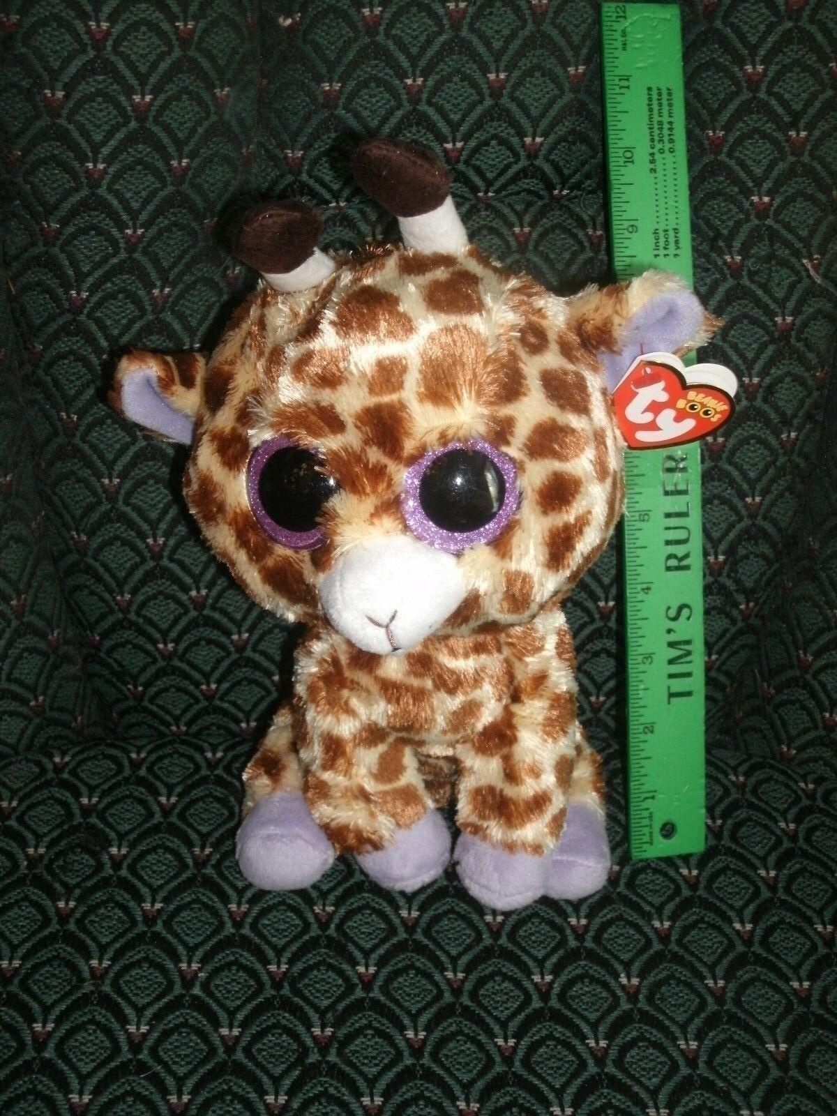 Ty Boo 9  Medium  SAFARI  Giraffe  MWMT red  glitter eyes  RARE  DOB 10 20
