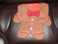 Baby Bib Boy Gingerbread Christmas Embroidered Frenchie Mini Couture Santa NEW