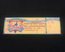 Disney World Ephemera 15th Birthday Celebration Gift Tickets November 30, 1986