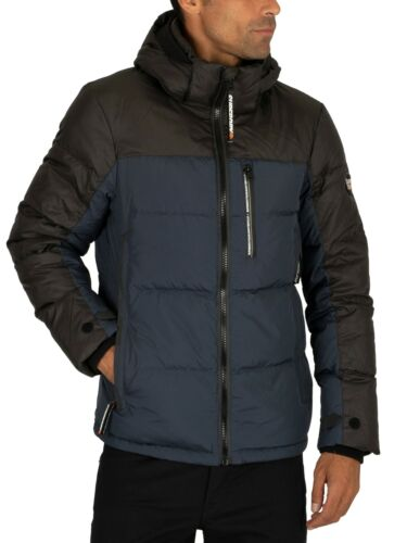 Superdry Men/'s Cortex Down Jacket Blue