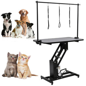 Adjustable Large Grooming Table Z Lift Hydraulic Pet Dog
