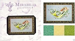 Mirabilia-Counted-Cross-Stitch-Chart-with-Bead-pack-EMERALD-MERMAID-77-Sale