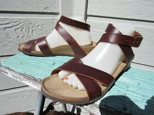 Birkenstock Papillio LOLA Ankle Strap Sandal EU 40 L 9 Brown Leather Portugal