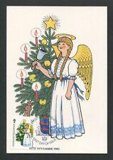 GUERNSEY MK 1985 WEIHNACHTEN CHRISTMAS NAVIDAD CARTE MAXIMUM CARD MC CM d9169
