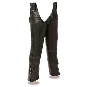 Milwaukee-Leather-Men-039-s-reglable-cote-Snap-Ceinture-Moto-Chaps-SH1198