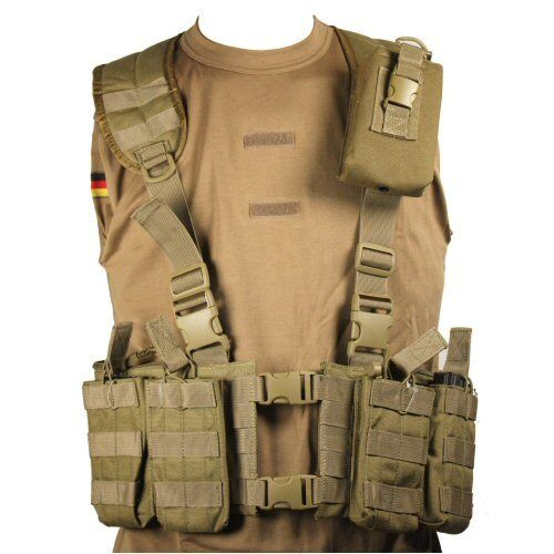 Tan Lightweight Hydration NATO M4 MOLLE Webbing Rig Hydration Lightweight Carrier LBV d4ebf5