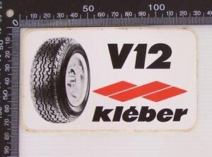 VINTAGE-V12-KLEBER-TYRES-RACING-SPONSOR-ADVERTISING-SOUVENIR-PROMO-CAR-STICKER