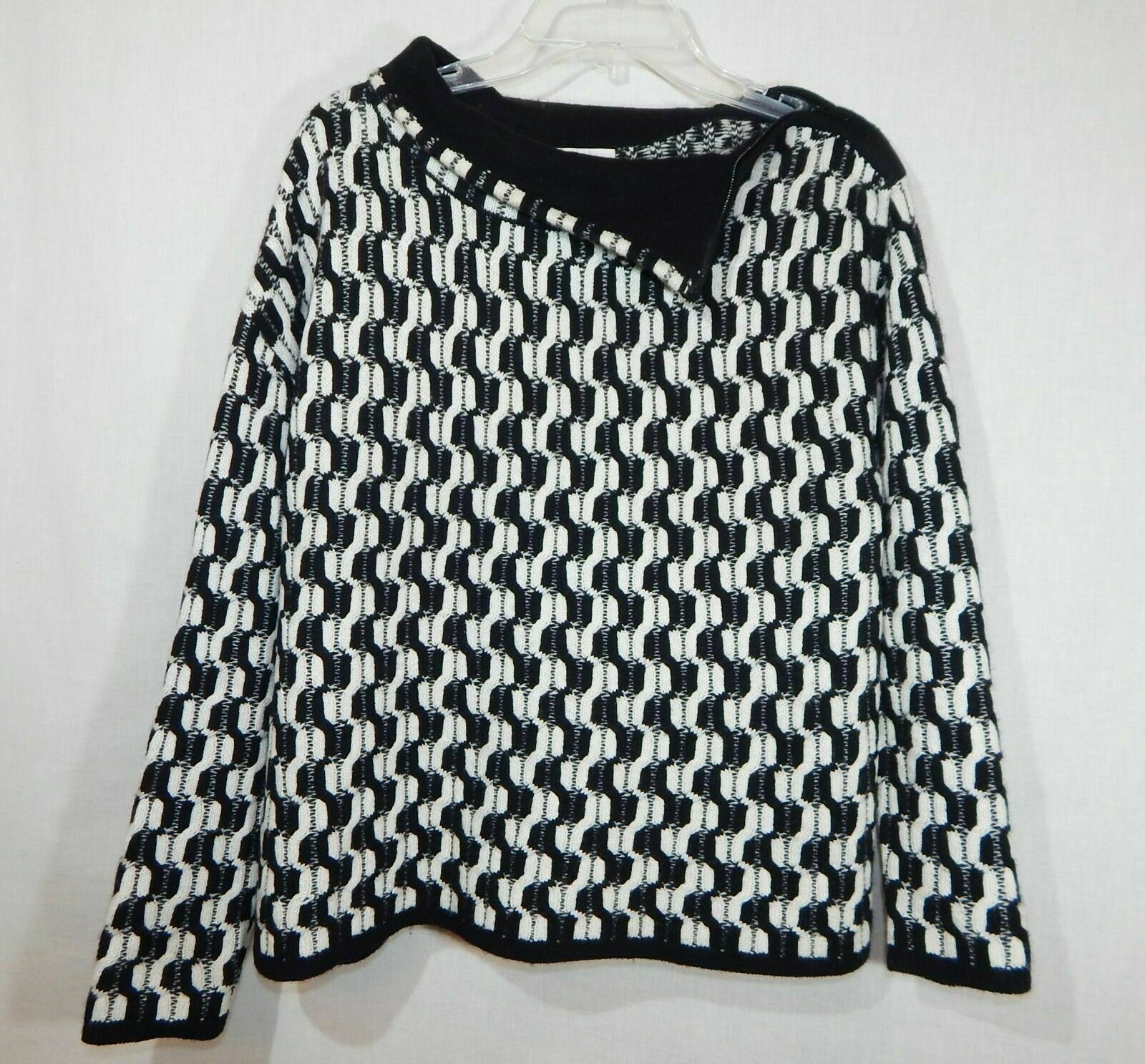 100% Cashmere NORDSTROM COLLECTION Black White Do… - image 9