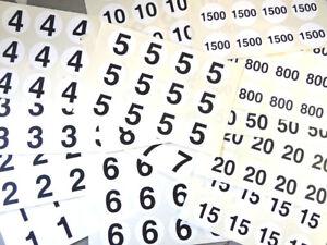 40mm 26.7cm CERCLE NOIR SUR BLANC numéros collant-numérotation Stickers 3dw4aatM-07135434-426029439