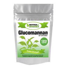 Better Bodies 120 Glucomannan Max Konjac Fibre Diet Weight LOss Supplement Pills