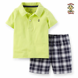 Carter-039-s-2-pc-Polo-and-Shorts-Set-18-months-Authentic-and-Brand-New