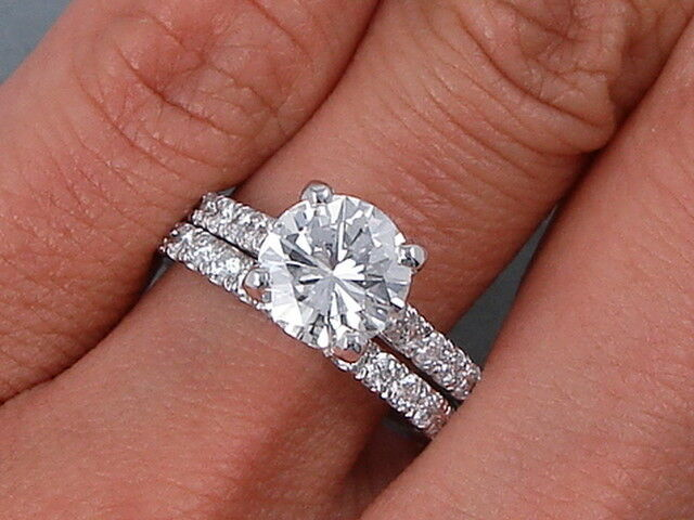 2.60CT Round Diamond Wedding Bridal Set Engagement Ring